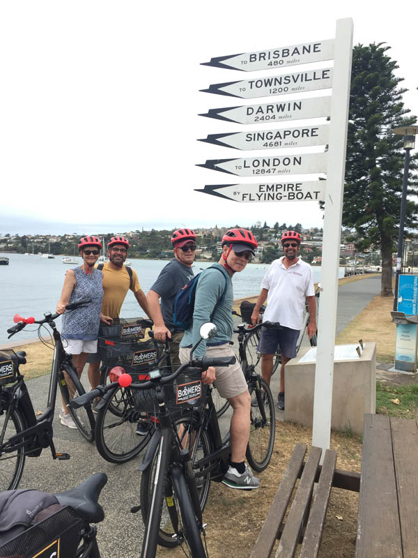 Group ebike tours in Sydney.
